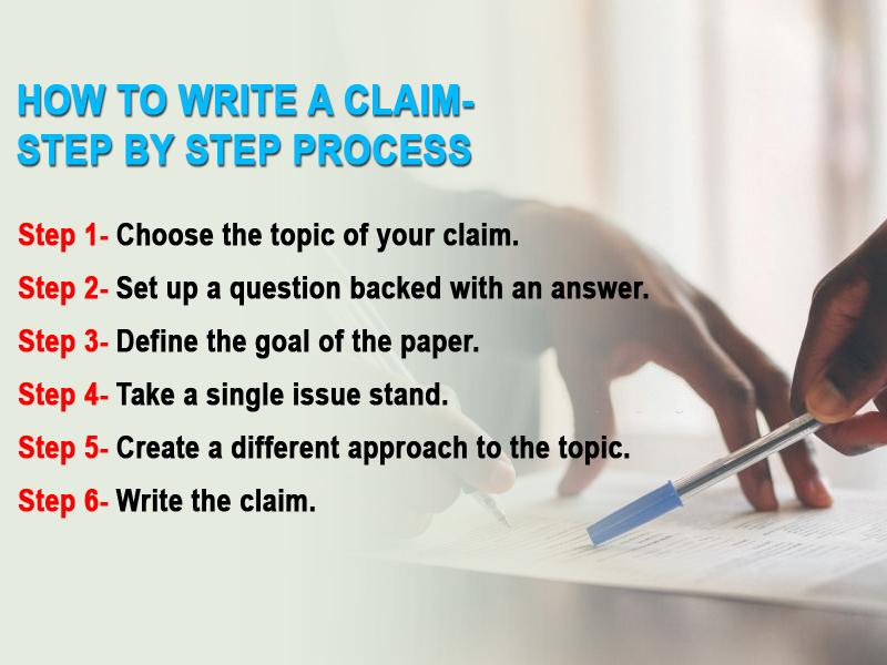 How to write a claim- step by step process