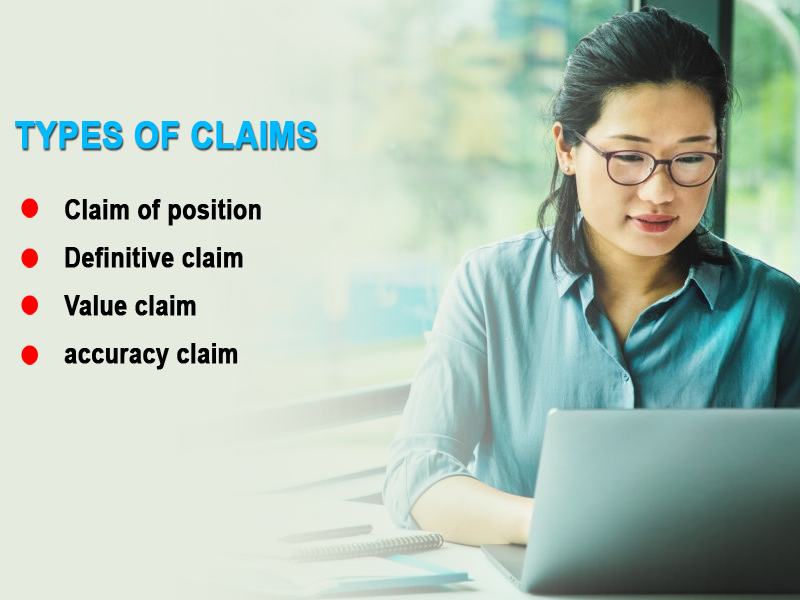 What are the 4 types of claims?