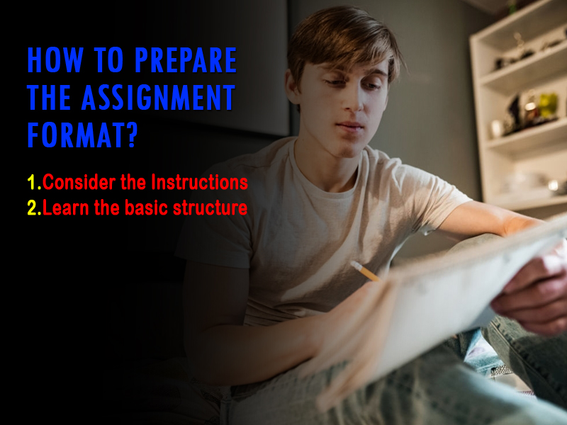 How to prepare the assignment format