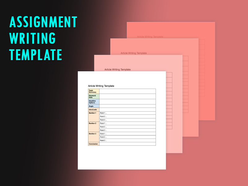 Assinment writing template