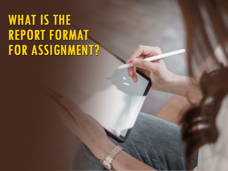 What is the report format for assignment?