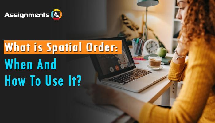 Banner Spatial order