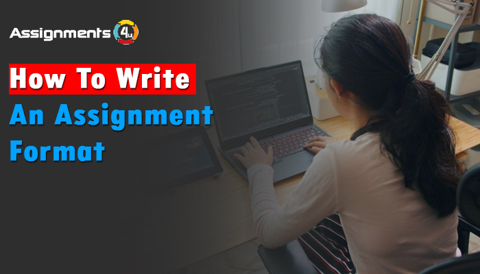 How to write an assignment format