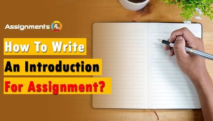 How to write an introduction for assignment?